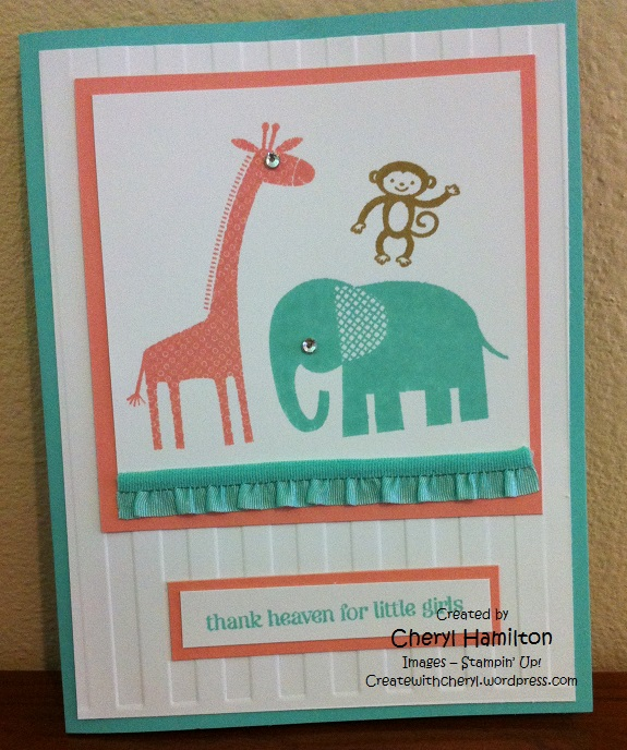 Createwithcheryl.me Zoo Baby Card
