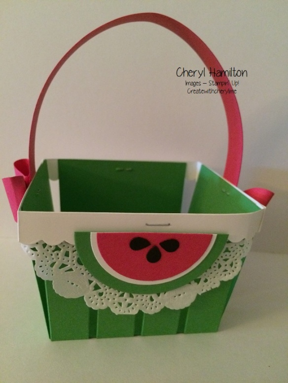 Create With Cheryl Watermelon Basket