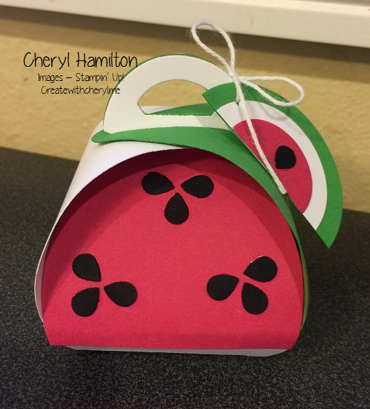 Create With Cheryl Watermelon Curvy Box