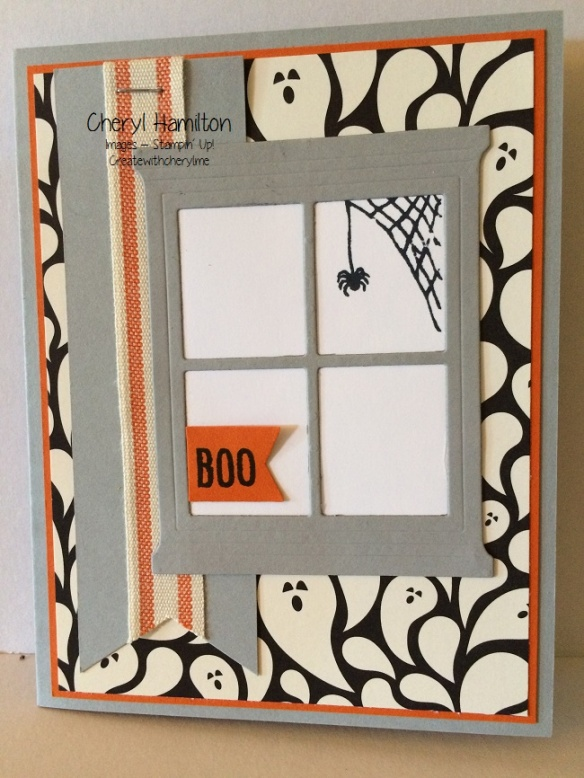 Halloween Window Card
