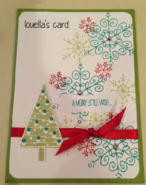 Louella's Snowflake Card