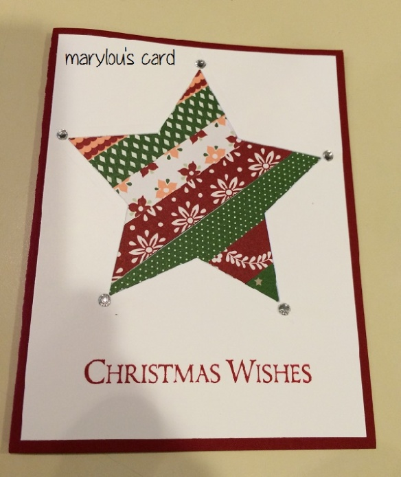 Marylou's Star Card