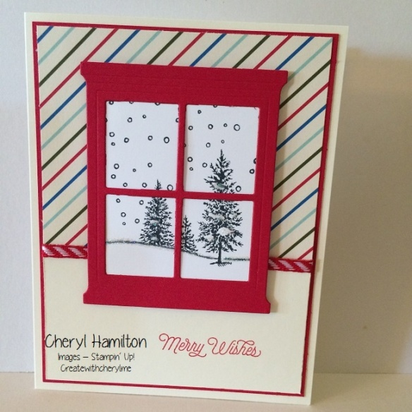 Merry Wishes Window Card